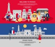 Frankreich-Fahnensatz lizenzfreie abbildung