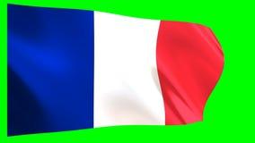 Frankreich fahnenschwenkend
