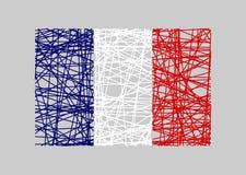 Frankreich-FlaggenKonzept des Entwurfes Lizenzfreies Stockfoto