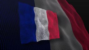 Frankreich-Flaggenschlagflattern belebt stock abbildung