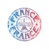 Frankreich grunge Stempel Lizenzfreie Stockfotos