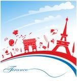 Frankreich-Hintergrund Stockfoto