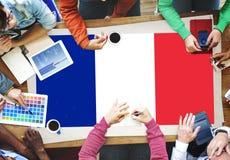 Frankreich-Landesflagge-Nationalitäts-Kultur Liberty Concept Lizenzfreie Stockbilder