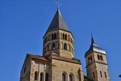 Frankreich, malerische Stadt von Cluny in Saone und in der Loire Lizenzfreie Stockbilder