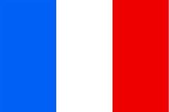 Frankreich-Markierungsfahne lizenzfreie abbildung