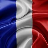 Frankreich-Markierungsfahne Stockbild
