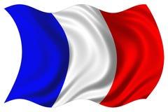 Frankreich-Markierungsfahne getrennt Stockbild