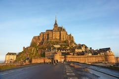 frankreich Mont Saint-Michel im Winter Stockfotografie