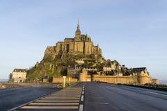 frankreich Mont Saint-Michel im Winter Lizenzfreie Stockbilder