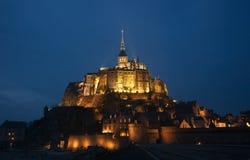 frankreich Mont Saint-Michel im Winter Stockbild