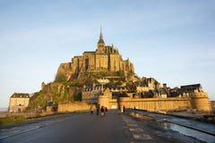 frankreich Mont Saint-Michel im Winter Lizenzfreie Stockfotografie