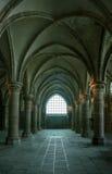 frankreich Mont Saint-Michel im Winter Lizenzfreies Stockfoto