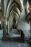 frankreich Mont Saint-Michel im Winter Lizenzfreies Stockbild