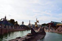 Frankreich, Paris, Disneyland, am 14. Oktober 2018 Disneyland-Dekorationsdetail stockfotografie