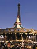 Frankreich. Paris. Eiffelturm. Karussell. Lizenzfreie Stockfotografie