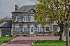 Frankreich, Rathaus von Courtils in Normandie lizenzfreies stockbild