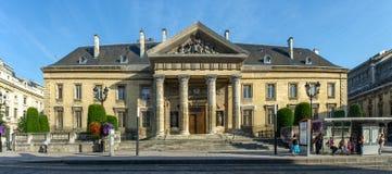 FRANKREICH REIMS AUG 2018: Ansicht der Fassade des Rathauses von Reims Es wurde im 17. Jahrhundert aufgerichtet und vergrößert im lizenzfreie stockfotografie