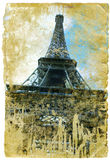 Frankreich - Retro- Artabbildung Stockfoto