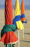 Frankreich, Sonnenschirme auf dem Strand Stockbilder