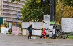 Frankreich, Straßburg - 29. Oktober 2015: Leute Protists Stockbild