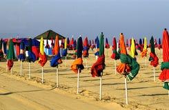 Frankreich, Strand von Deauville lizenzfreies stockbild