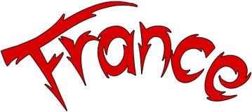 Frankreich-Textzeichenillustration Stockfotografie