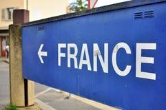 Frankreich-Verkehrsschild Lizenzfreie Stockfotografie