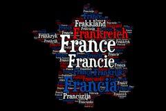 Frankreich - Wortwolkenillustration stock abbildung