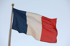 Frankreichs Markierungsfahne Stockbild