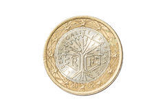 Frankrijk één euro muntstuk Stock Afbeeldingen