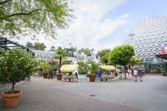 Frankrijk als thema gehad gebied - Europa Park in Roest, Duitsland Stock Foto