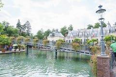 Frankrijk als thema gehad gebied - Europa Park in Roest, Duitsland Royalty-vrije Stock Fotografie