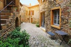 Frankrijk, Beaujolaisdorp stock afbeelding