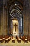 Frankrijk. Binnenland van Cathedrale DE Chartres stock foto