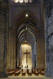 Frankrijk. Binnenland van Cathedrale DE Chartres stock afbeeldingen
