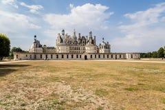frankrijk De belangrijkste voorgevel van Chateau DE Chambord, inbegrepen in de Unesco-Lijst van de Werelderfenis, 1519 - 1547 jaa Stock Foto's