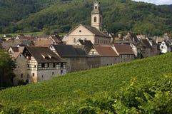 Frankrijk, de Elzas, Riquewihr Stock Fotografie