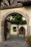 Frankrijk, de Elzas, Riquewihr Stock Foto's