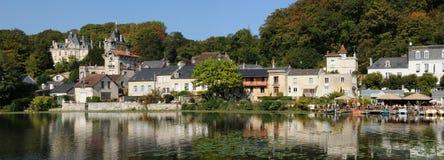 Frankrijk, de kleine stad van Pierrefonds in Picardie Royalty-vrije Stock Afbeeldingen