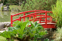 Frankrijk, de schilderachtige Japanse tuin van Aincourt Stock Foto