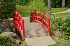Frankrijk, de schilderachtige Japanse tuin van Aincourt Royalty-vrije Stock Afbeeldingen