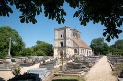 Frankrijk, de schilderachtige kerk van Nucourt Stock Fotografie
