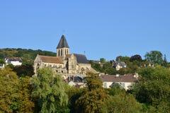 Frankrijk, de schilderachtige stad van de Zegen van Triel sur Royalty-vrije Stock Foto