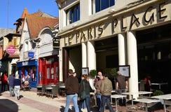 Frankrijk, de schilderachtige stad van Le Touquet Stock Foto's