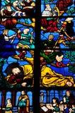 Frankrijk, de schilderachtige stad van Monfort l Amaury Stock Afbeelding