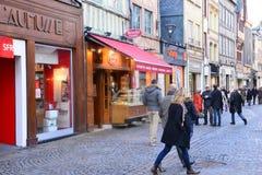 Frankrijk, de schilderachtige stad van Rouen in Normandie Stock Fotografie