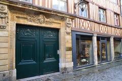 Frankrijk, de schilderachtige stad van Rouen in Normandie Stock Foto