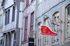 Frankrijk, de schilderachtige stad van Rouen in Normandie Stock Foto's
