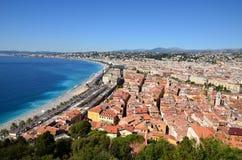 Frankrijk, Franse rivieera, de stad van Nice Stock Fotografie
