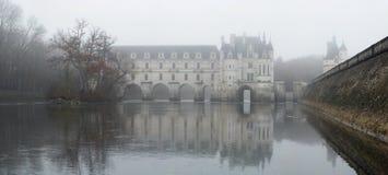 Frankrijk. De Vallei van de Loire. Mening over kasteel Chenonceau stock afbeelding